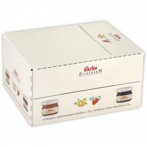 Darbo Zuckerarm Erdbeer Konfitüre 60x28g Minigläser