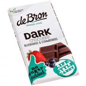 De Bron Dark chocolate Blueberries & Strawberries