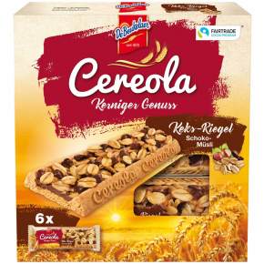 DeBeukelaer Cereola Kerniger Genuss Keks-Riegel Schoko-Müsli 6er