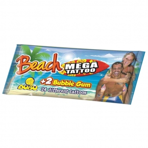DUBU Beach Mega Tattoo + 2 Bubble Gum
