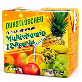 durstl scher multivitamin 12 frucht 500ml online kaufen. Black Bedroom Furniture Sets. Home Design Ideas