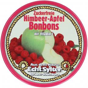 Echt Sylter Brisen-Klömbjes Himbeer-Apfel Bonbons zuckerfrei 70g