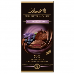 Lindt Edelbitter Mousse Blaubeer-Lavendel 150g