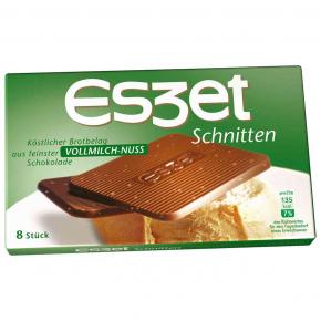Eszet Schnitten Vollmilch-Nuss 8er
