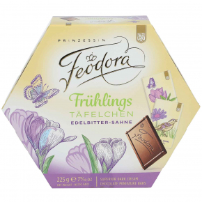 Feodora Frühlings-Täfelchen Edelbitter-Sahne 225g