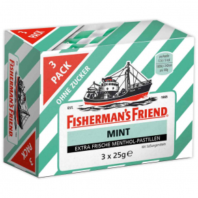Fisherman's Friend Mint ohne Zucker 3x25g
