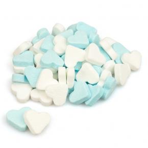 Fortuin Pfefferminzherzen blau-weiß 1kg