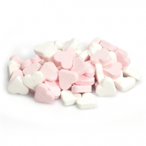 Fortuin Pfefferminzherzen rosa-weiß 1,5kg