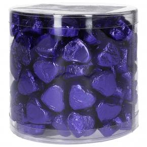 Günthart Kleine Nougatcreme-Pralinenherzen lila 1,2kg