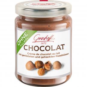 Grashoff Chocolat Crème de chocolat au lait mit Haselnüssen 235g