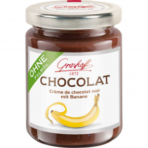 Grashoff Chocolat Crème de chocolat noir mit Banane 250g