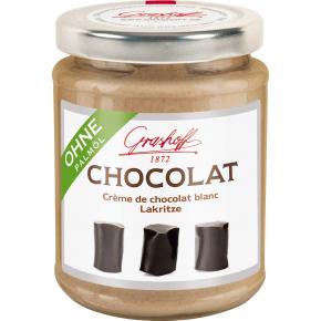 Grashoff Chocolat Crème de chocolat blanc Lakritze 250g