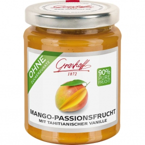 Grashoff Mango-Passionsfrucht mit tahitianischer Vanille 230g