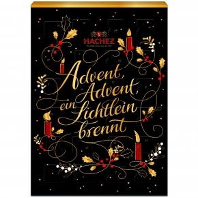 hachez adventskalender weihnachtsgedicht online kaufen. Black Bedroom Furniture Sets. Home Design Ideas