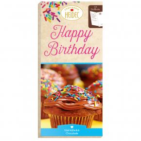 "Heidel Grußschokolade ""Happy Birthday"" 100g"