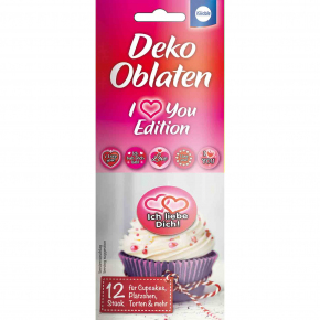 "Küchle Deko Oblaten ""I Love You"" Edition 12er"