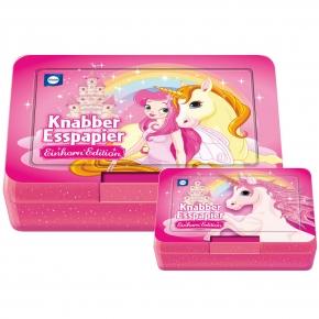 Küchle Knabber-Esspapier Einhorn Edition 2x10er mit Brotdose
