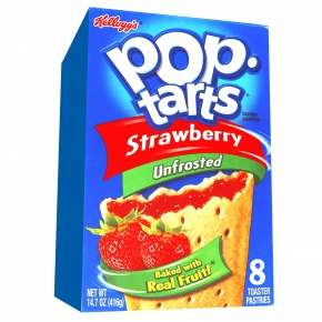 Kellogg's Pop-Tarts Strawberry Unfrosted 8er