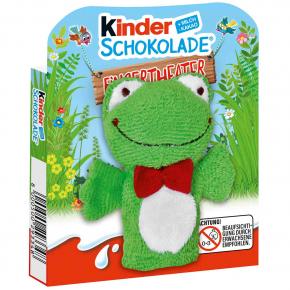 kinder Schokolade Fingerpuppe Frosch