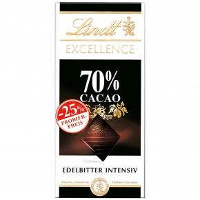 Lindt Excellence 70% 100g Probierpreis -25%