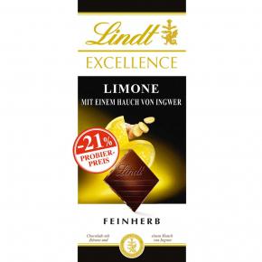 Lindt Excellence Limone-Ingwer 100g Probierpreis -21%