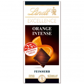 Lindt Excellence Orange Intense 100g Probierpreis -25%