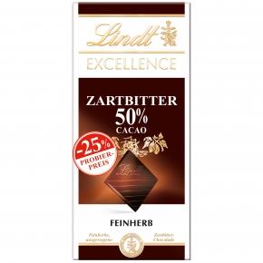 Lindt Excellence Zartbitter 50% 100g Probierpreis -25%