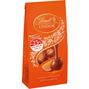 Lindt Lindor Kugeln Orange 137g Probierpreis -25%