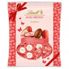 Lindt Macarons Eier Erdbeere 90g