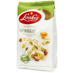 "Lonka ""Special Moments"" Soft Nougat Pistachio Hazelnut & Almond 144g"