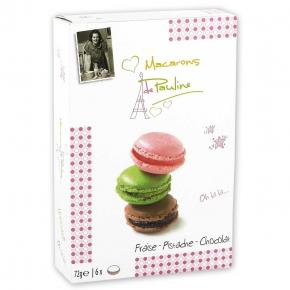 Macarons de Pauline Erdbeere-Pistazie-Schokolade