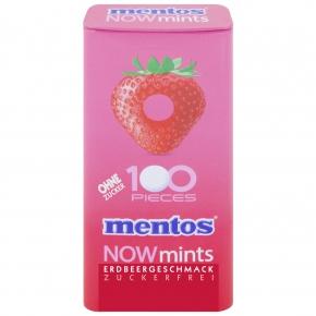 mentos NOWmints Erdbeergeschmack  zuckerfrei 50g