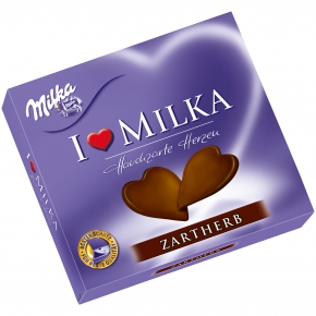 """Milka """"I Love Milka"""" Hauchzarte Herzen Zartherb"""