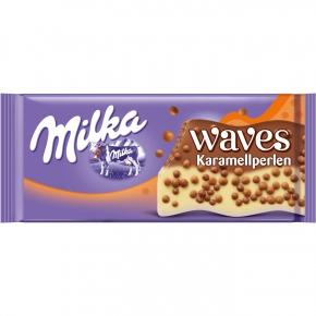 Milka Waves Knusperwelle mit Karamellperlen