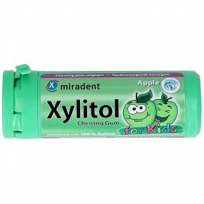 miradent Xylitol Chewing Gum for Kids Apple