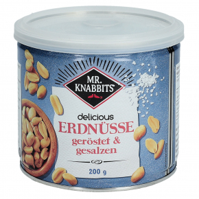 Mr. Knabbits delicious Erdnüsse geröstet & gesalzen 200g