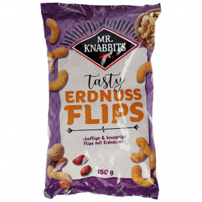 Mr. Knabbits tasty Erdnuss Flips 150g