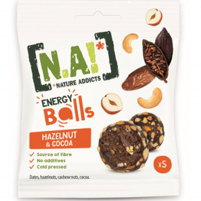 N.A! Nature Addicts Energy Balls Hazelnut & Cocoa 5er