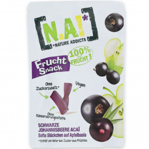 Nature Addicts Frucht Snack Schwarze Johannisbeere Acaí 35g