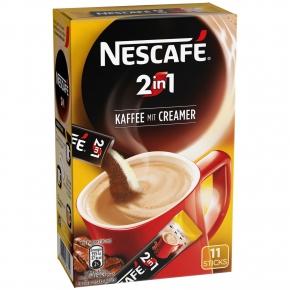 Nescafé 2in1 Kaffee mit Creamer Sticks 11er