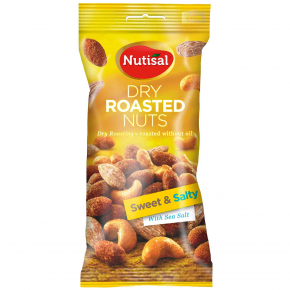 Nutisal Dry Roasted Nuts Sweet & Salty With Sea Salt 60g