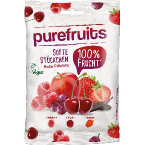 purefruits Softe Stückchen Rote Früchte 100g