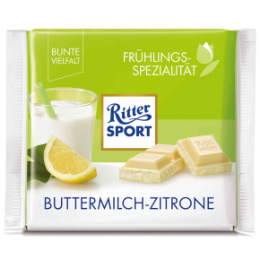 Ritter Sport Frühlings-Spezialität Buttermilch-Zitrone 100g