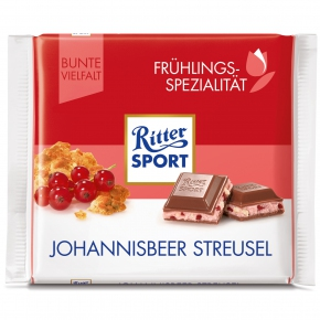 Ritter Sport Frühlings-Spezialität Johannisbeer Streusel