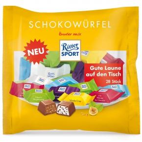 Ritter Sport Schokowürfel Bunter Mix 28er Beutel