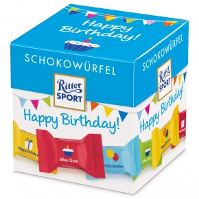Ritter Sport Schokowürfel Happy Birthday