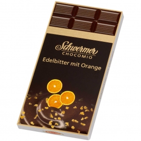 Schwermer Chocomio Edelbitter mit Orange 100g