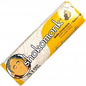 shokomonk Weiße Schokolade Bananasplit
