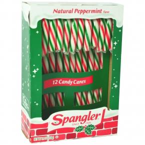 Spangler Zuckerstangen 14cm Natural Peppermint rot-weiß-grün 12er