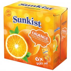 Sunkist Orange 6x200ml